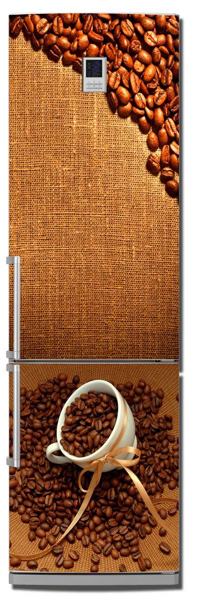 Наклейка на холодильник Кофе 2. Зерна