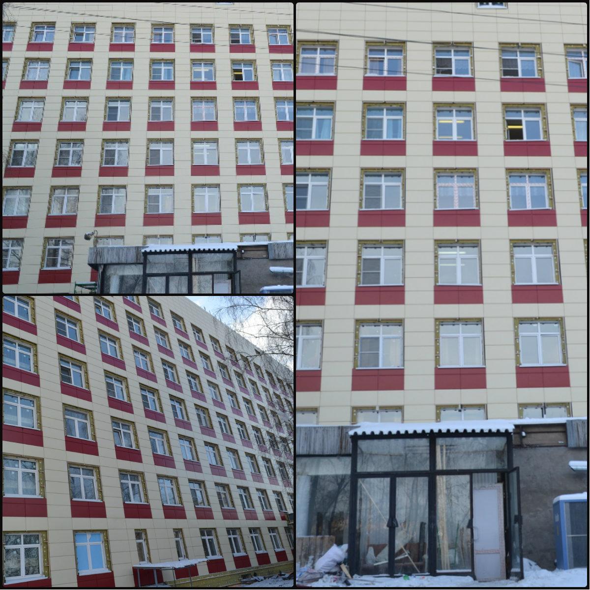 Облицовка фасада больницы г. Москва
