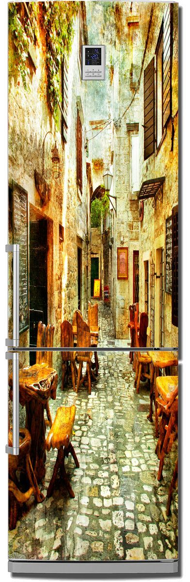 Fridge Sticker - Old streets of Greece 1 by X-Decor