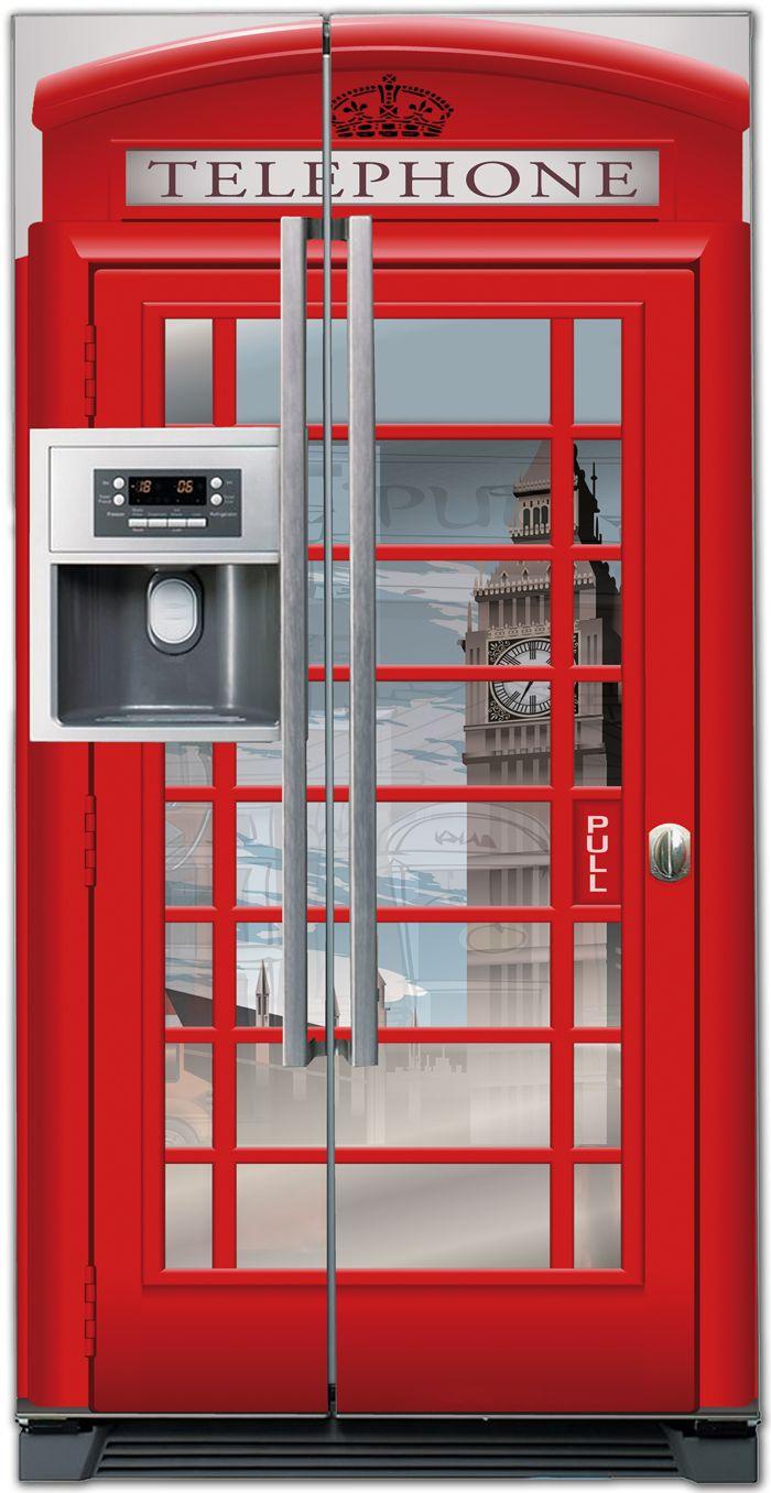 Наклейка на холодильник - Телефон 2