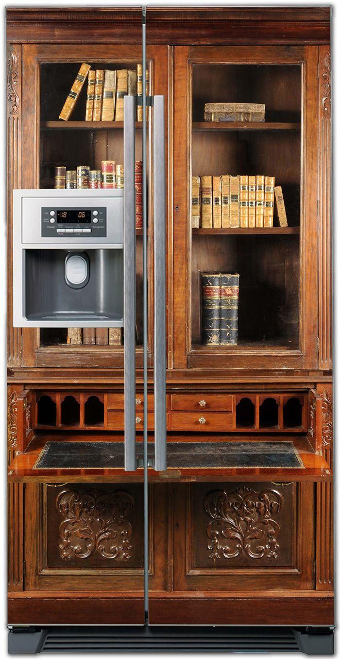 Наклейка на холодильник - Секретер