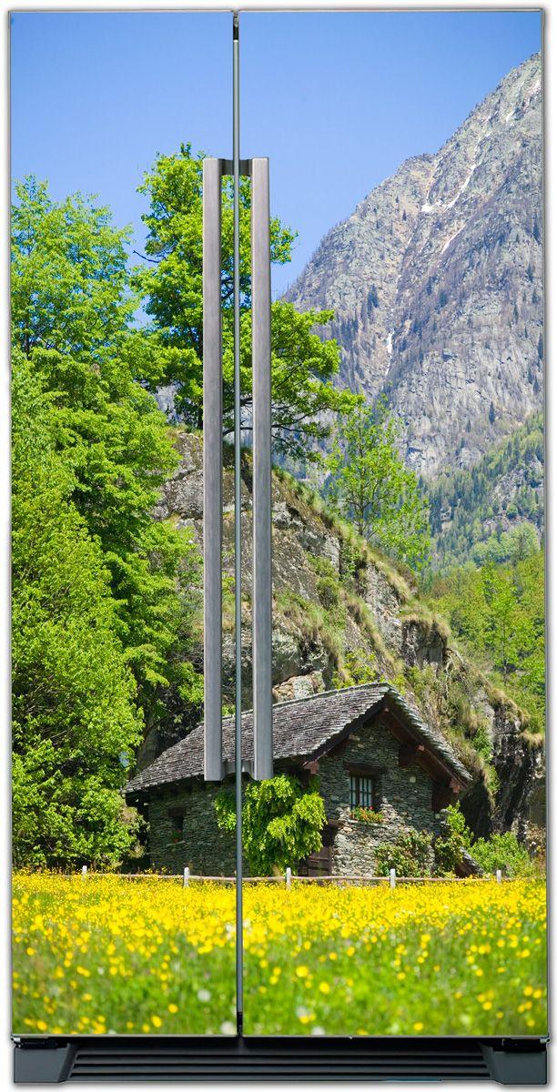 стикер - Дом в горах