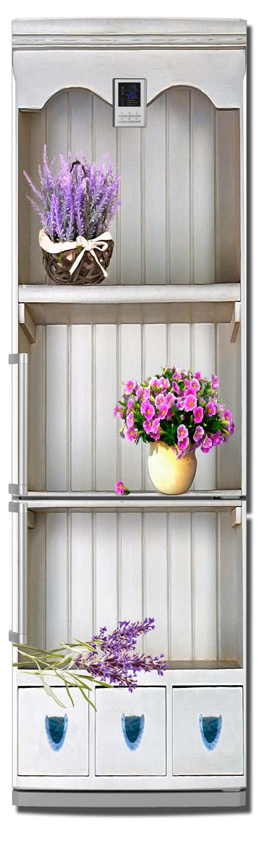 Наклейка на холодильник - Прованс 3d, купить | Интерьерные наклейки