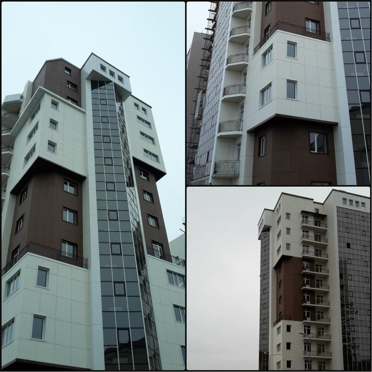 Отделка фасада фиброцементными плитами г. Грозный