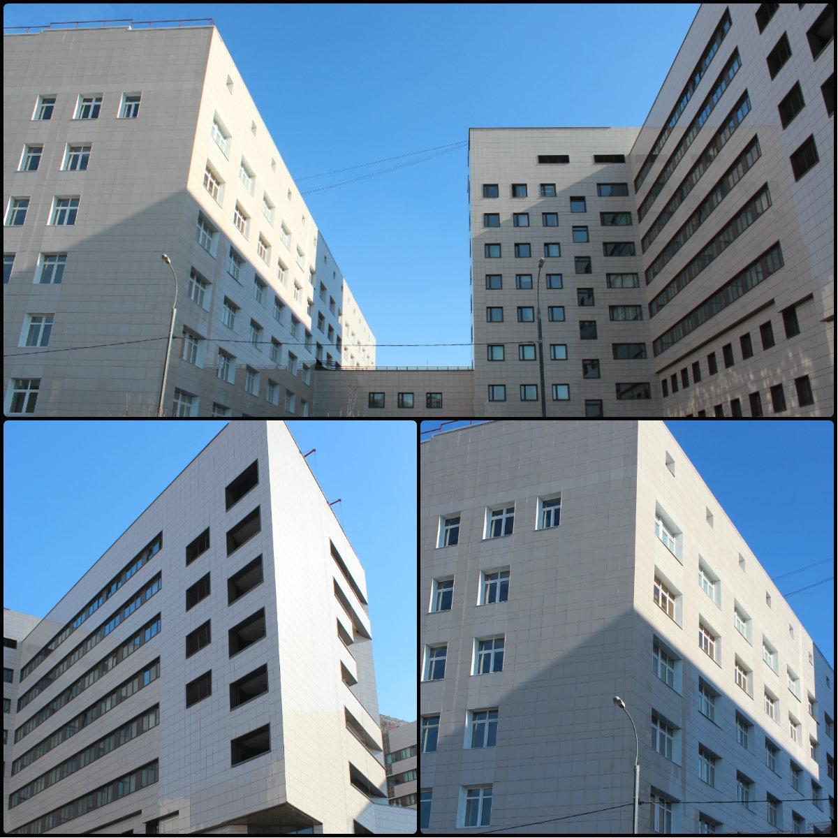 Отделка зданий керамогранитом. Производство фасадных систем г. Москва
