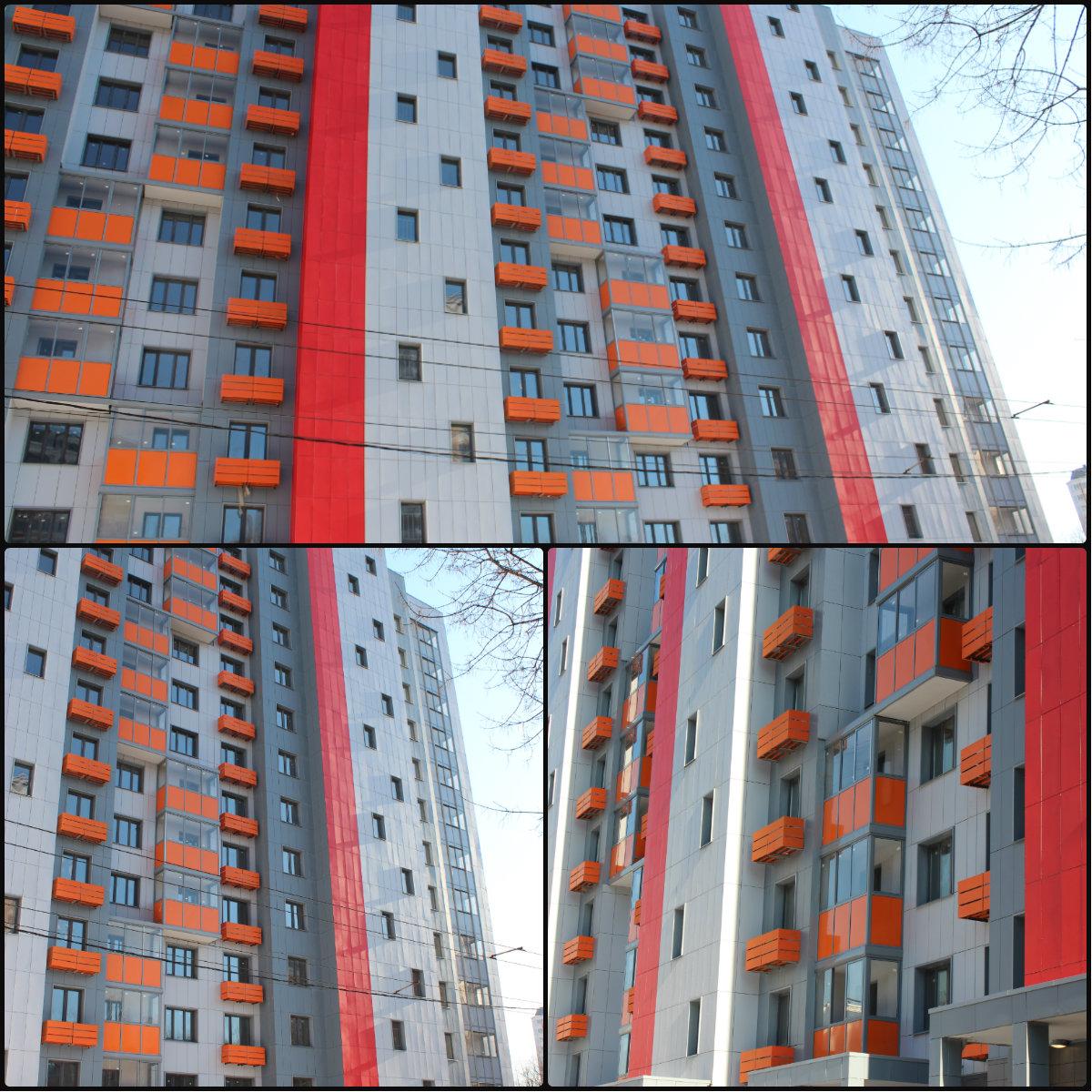 Отделка фасада жилого дома фасадными панелями г. Москва