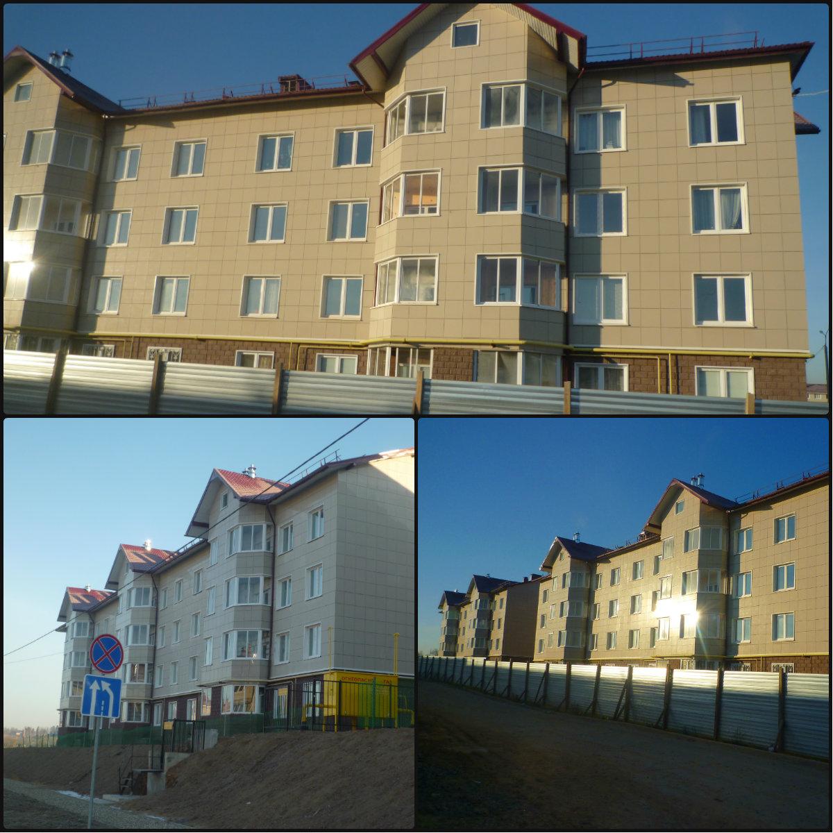 Облицовка зданий жилого квартала керамогранитом г. Истра