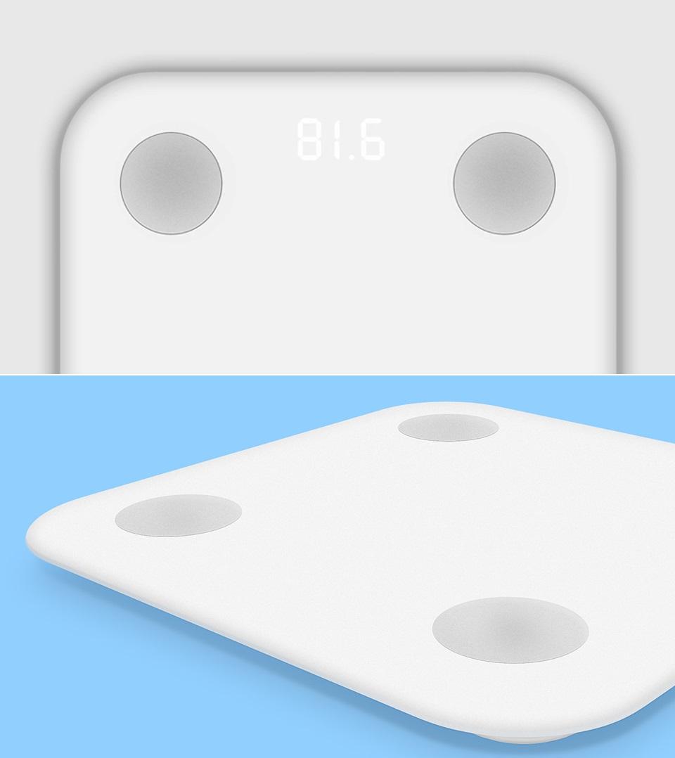 Весы Xiaomi Smart Scale 2 отображение веса на LED дисплее