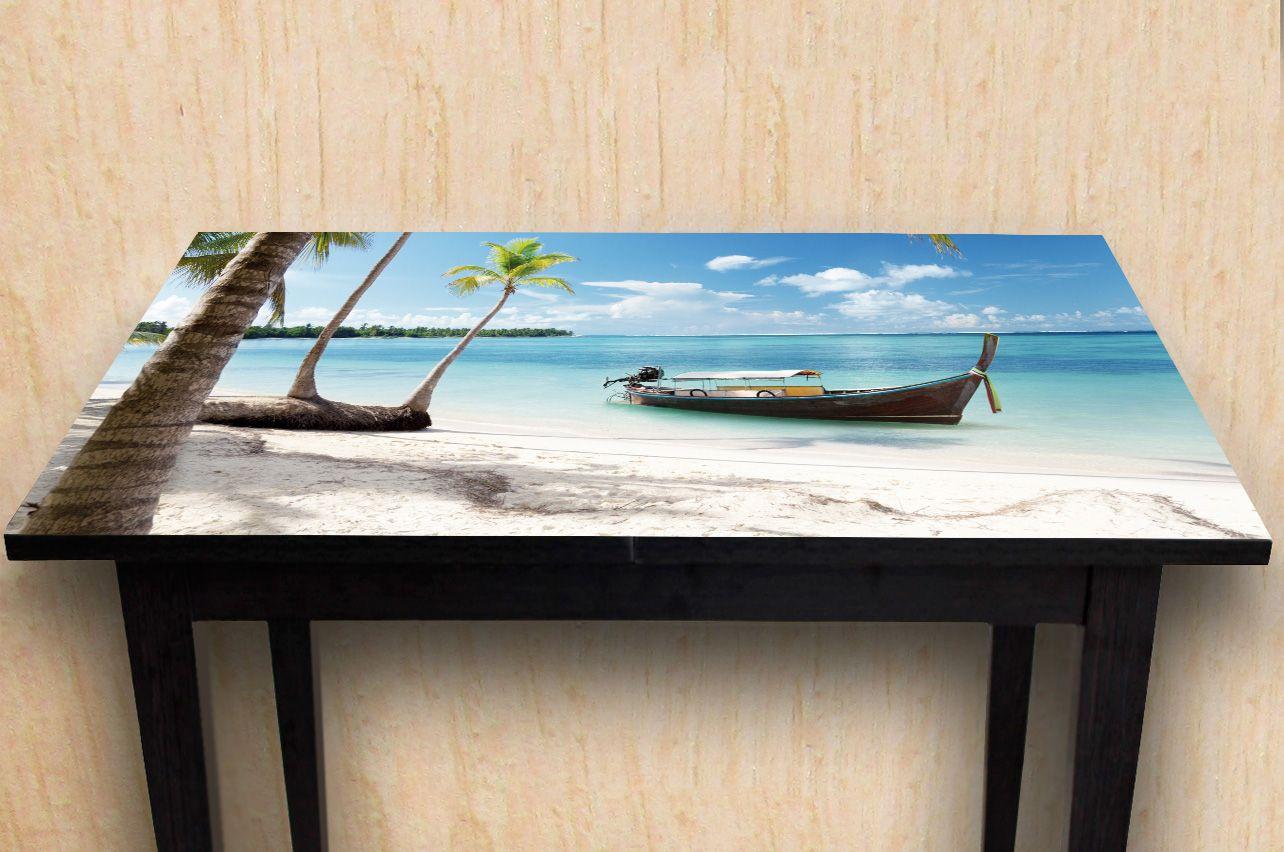Наклейка на стол - Пляж 4  | Купить фотопечать на стол в магазине Интерьерные наклейки