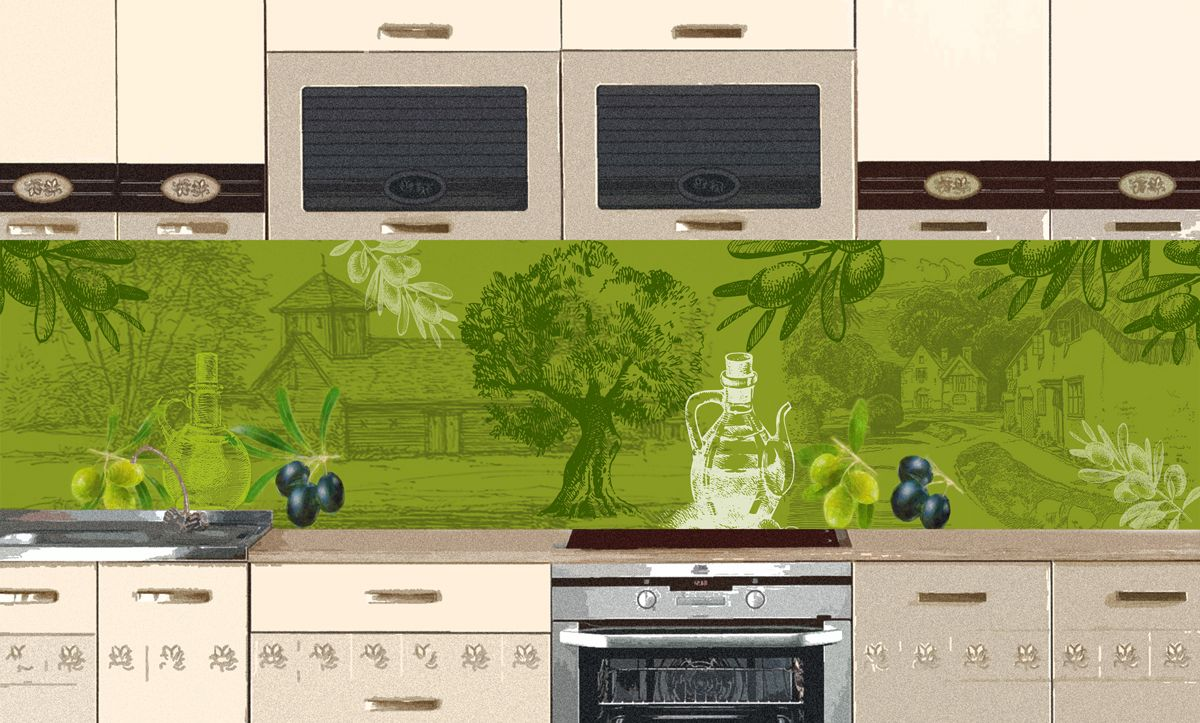 Kitchen Backsplash - Olives