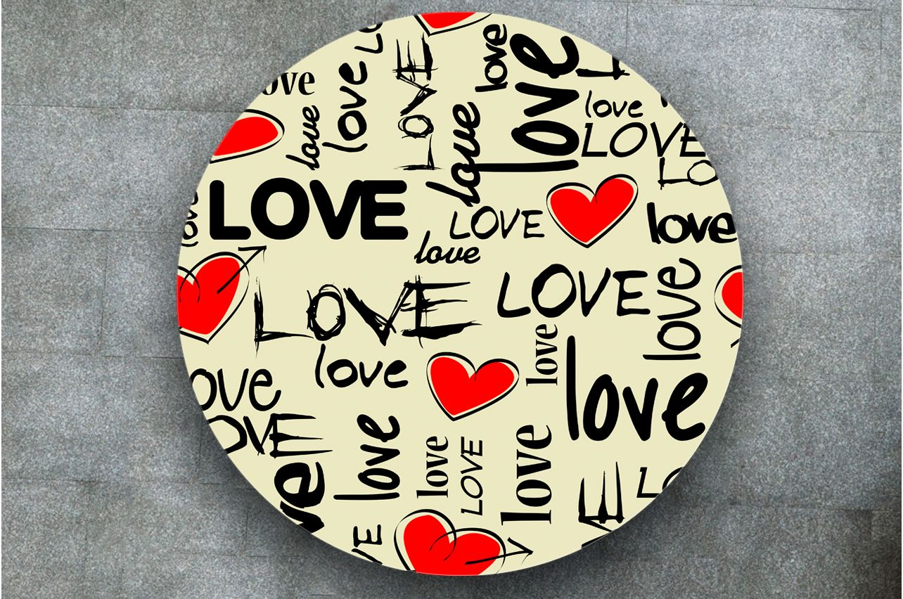 Table Decals - I love 2 | Buy Table Decals in x-decor.com