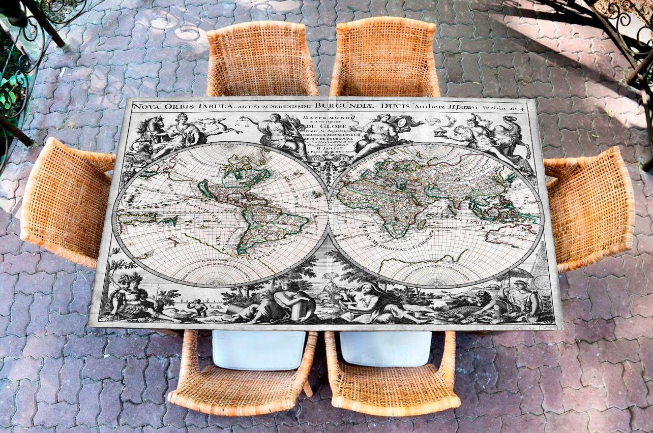 Наклейка на стол - Известный мир   Купить фотопечать на стол в магазине Интерьерные наклейки