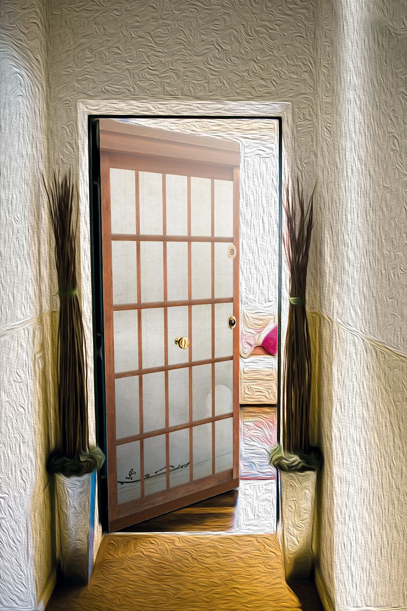Door sticker 障子 - japanese sliding door by X-Decor