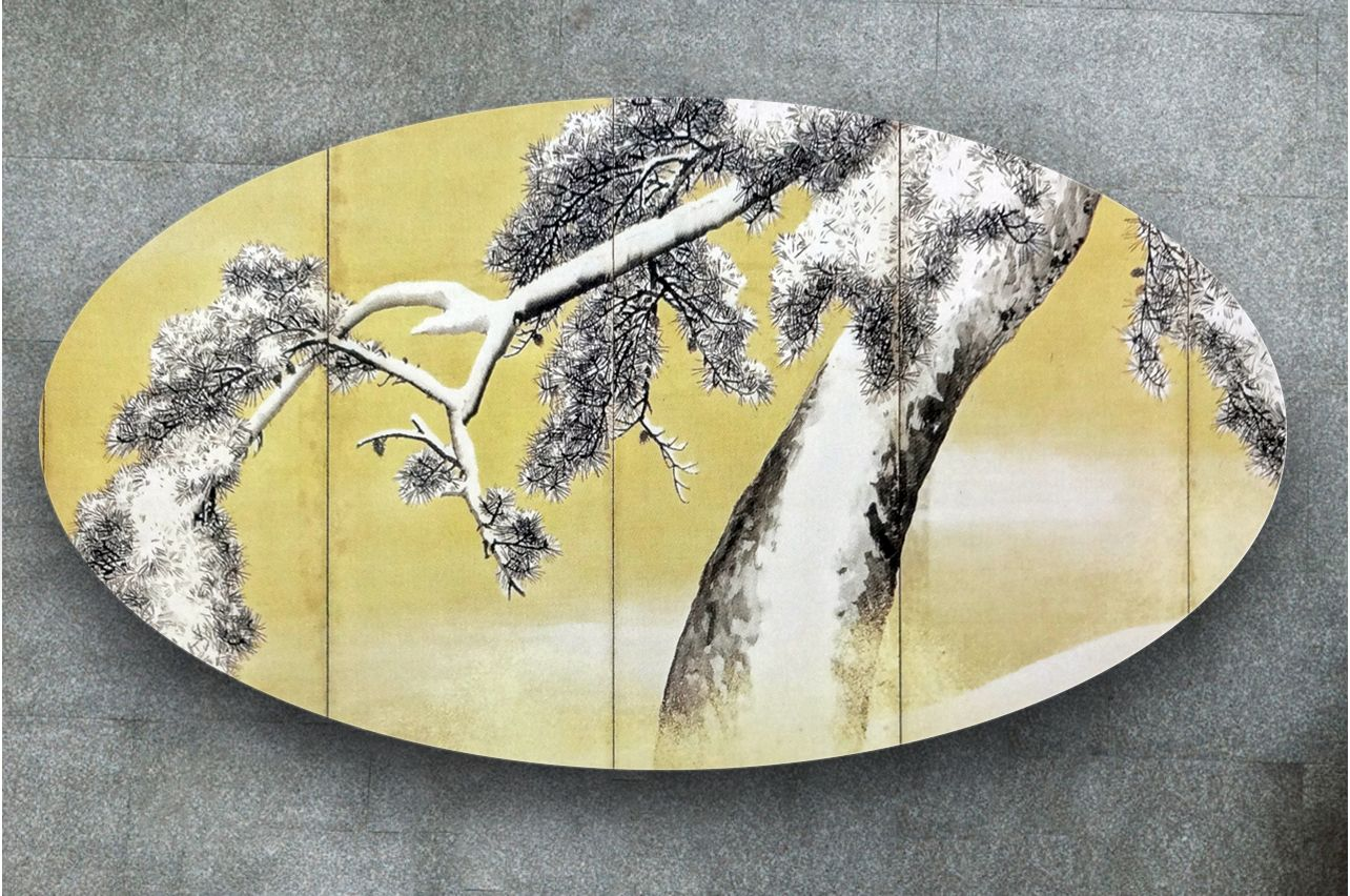 Table Decals - Pine snow| Buy Table Decals in x-decor.com