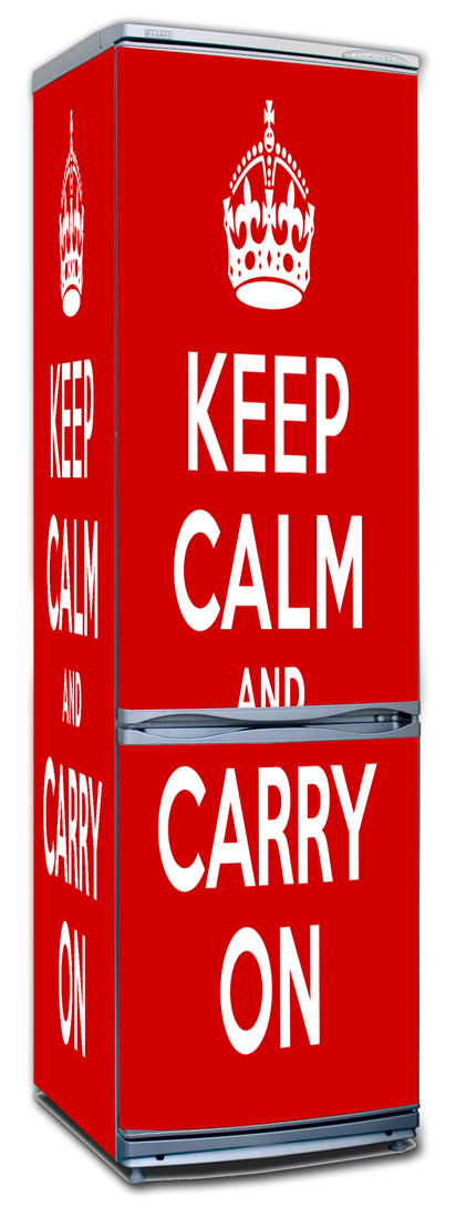 Наклейка на холодильник- Keep calm