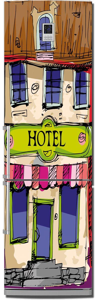 наклейка на холодильник - Отель