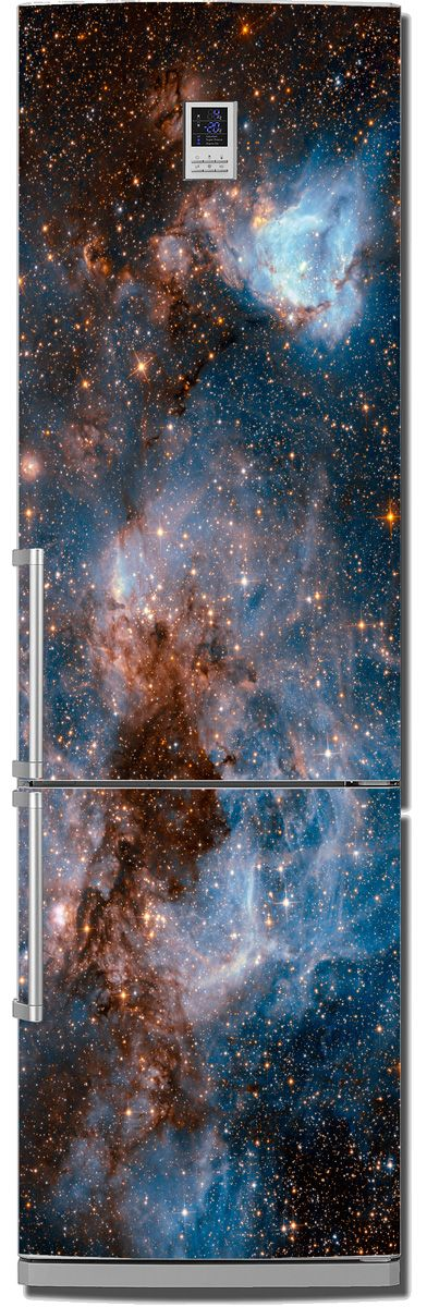 Наклейка на холодильник - Глубокий космос