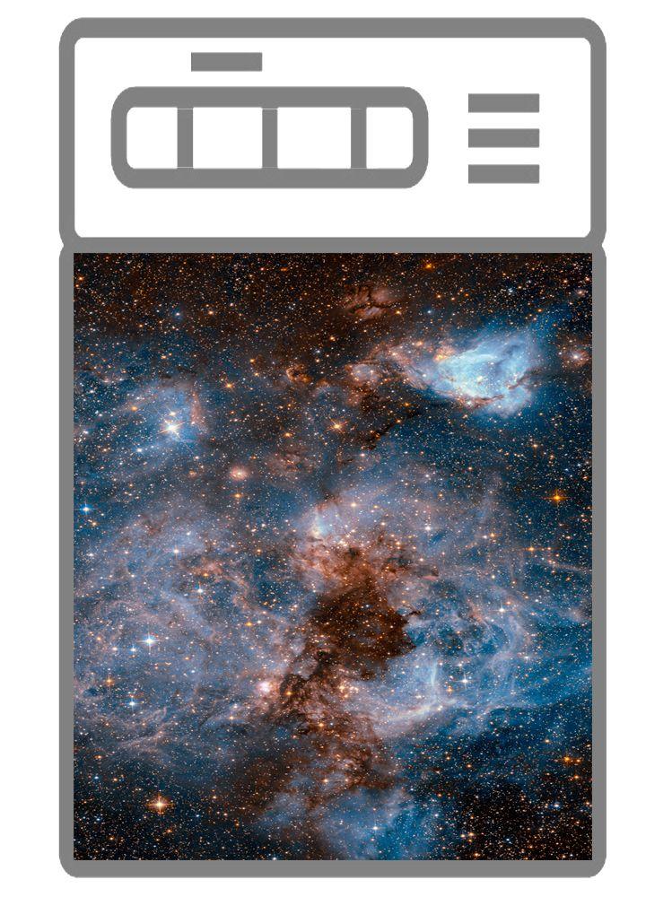 наклейка на посудомоечную машину - Глубокий космос