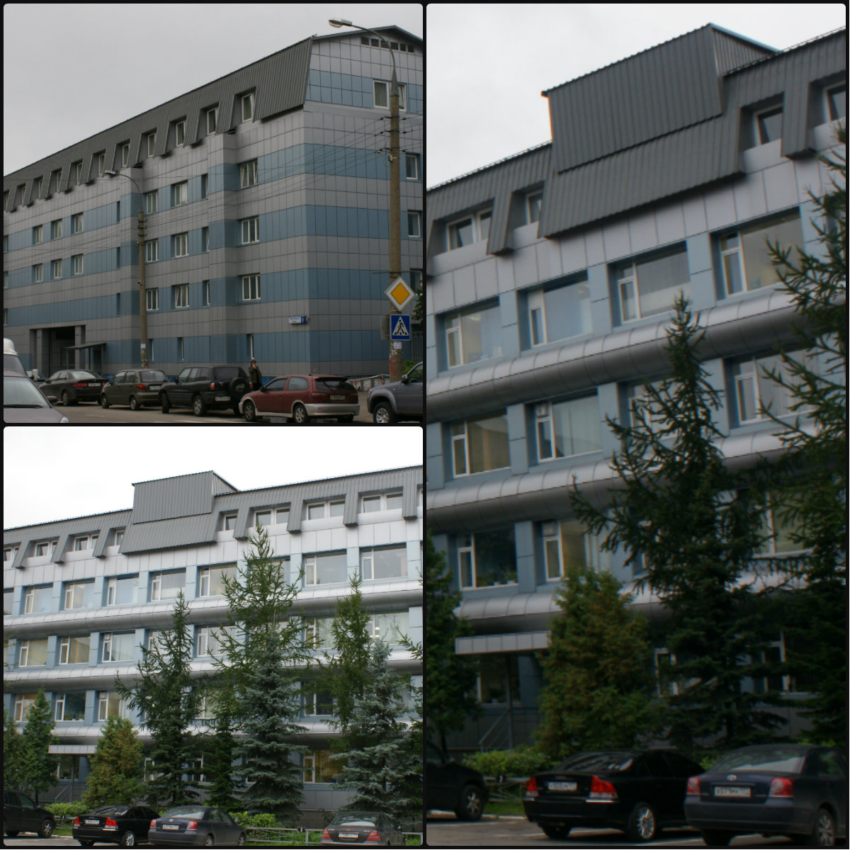 Отделка фасада композитными кассетами г. Москва