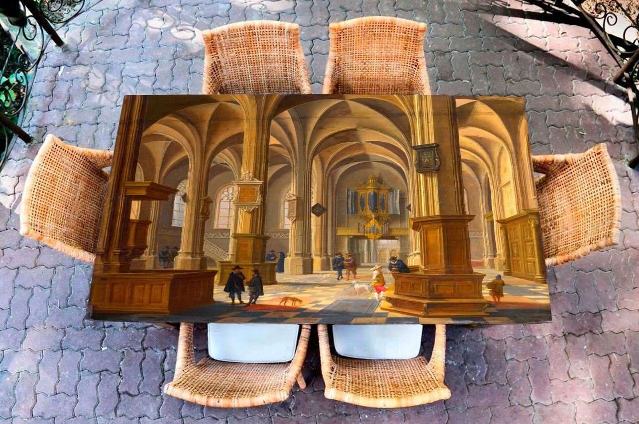 Наклейка на стол - ван Бассен | Купить фотопечать на стол в магазине Интерьерные наклейки