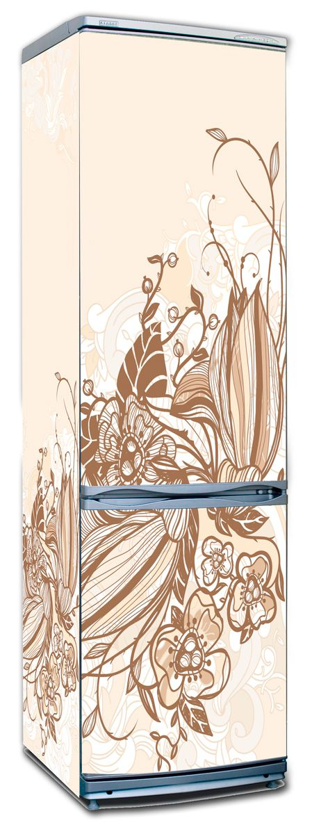 Наклейка на холодильник - Цветочная фантазия | купить в магазине Интерьерные наклейки