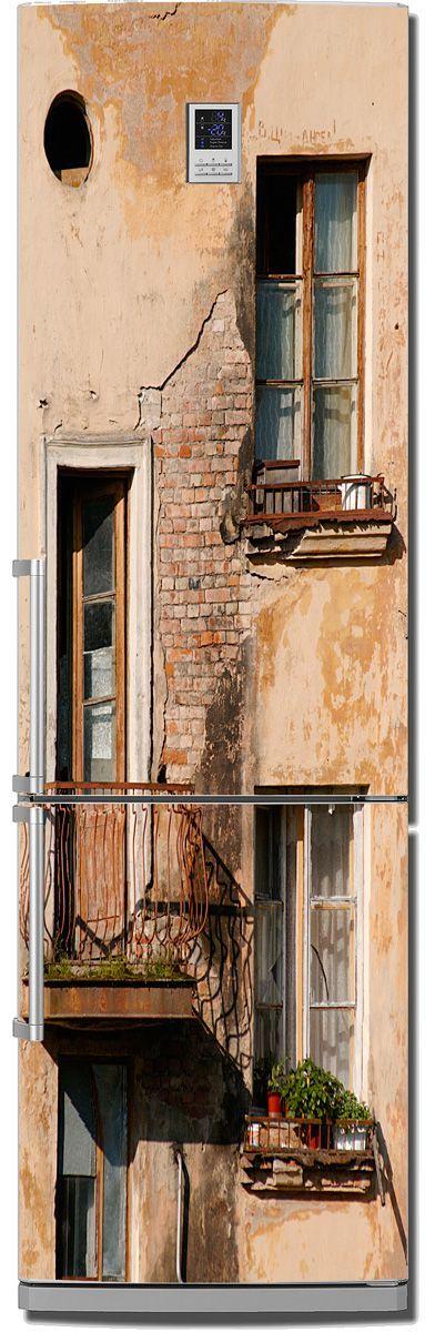 наклейка на холодильник -  Балкон