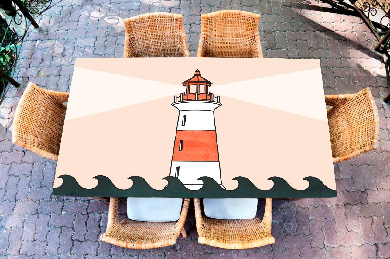 Наклейка на стол - Маяк | Купить фотопечать на стол в магазине Интерьерные наклейки