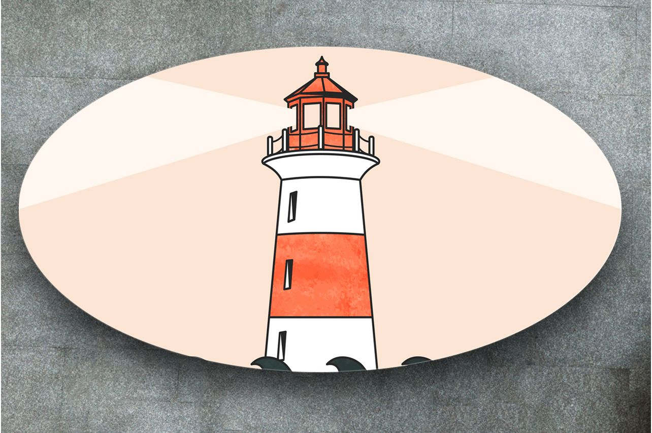 Table Decals - Lighthouse | Buy Table Decals in x-decor.com
