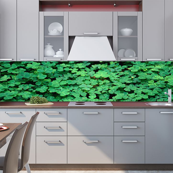 Kitchen Backsplash - Oxalis acetosella