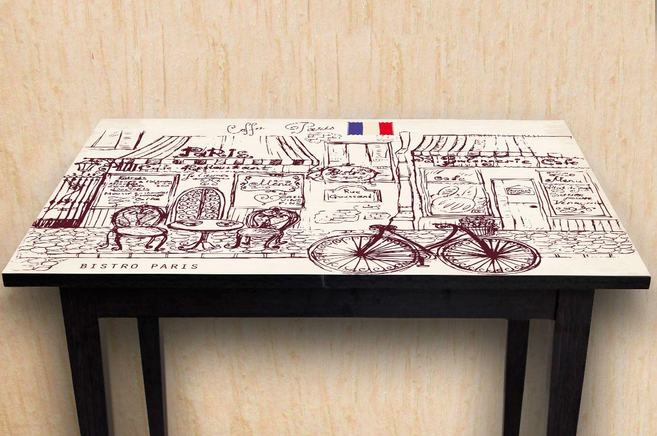 Наклейка на стол - Бистро-Bistro | Купить фотопечать на стол в магазине Интерьерные наклейки