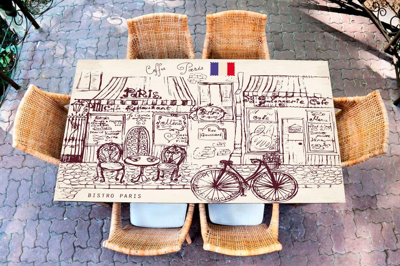 Наклейка на стол - Парусник | Купить фотопечать на стол в магазине Интерьерные наклейки