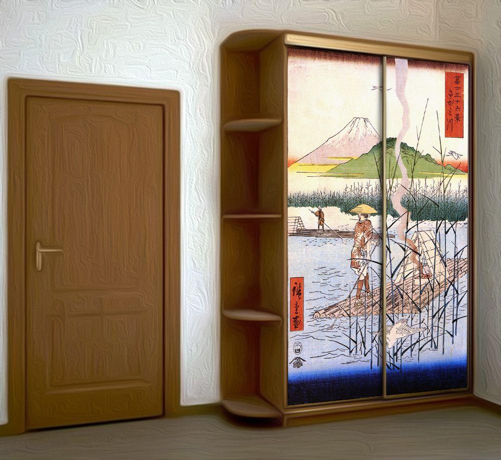 Наклейка на шкаф - Укиё-э