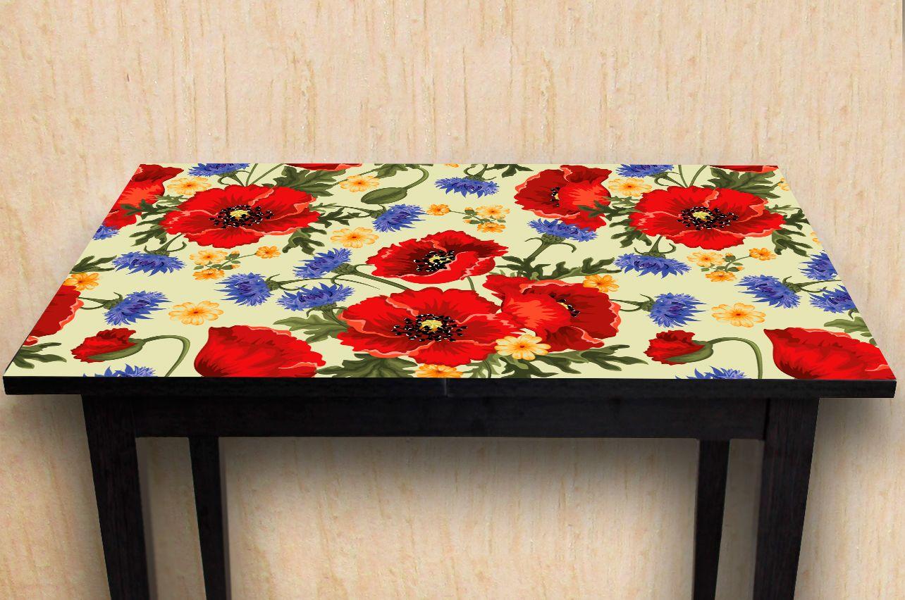 Наклейка на стол - Маки | Купить фотопечать на стол в магазине Интерьерные наклейки