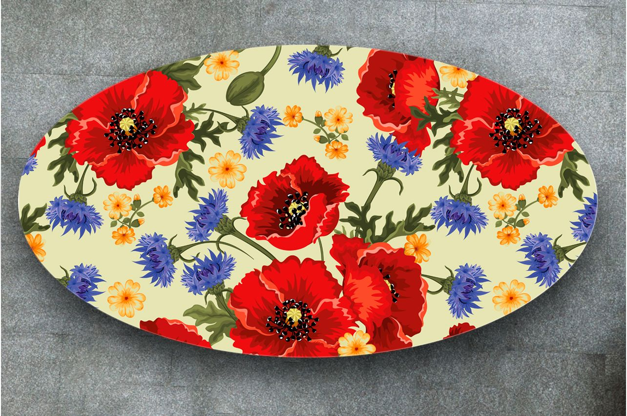 Table Decals - Poppies | Buy Table Decals in x-decor.com