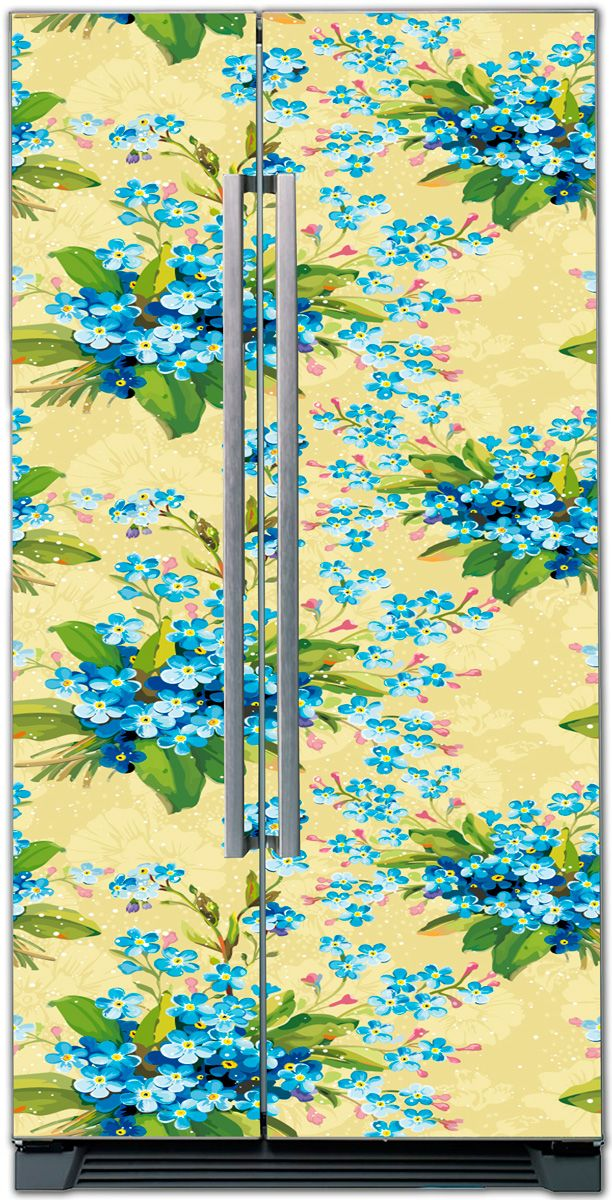 Fridge Skin - Floral motif 3 by X-Decor