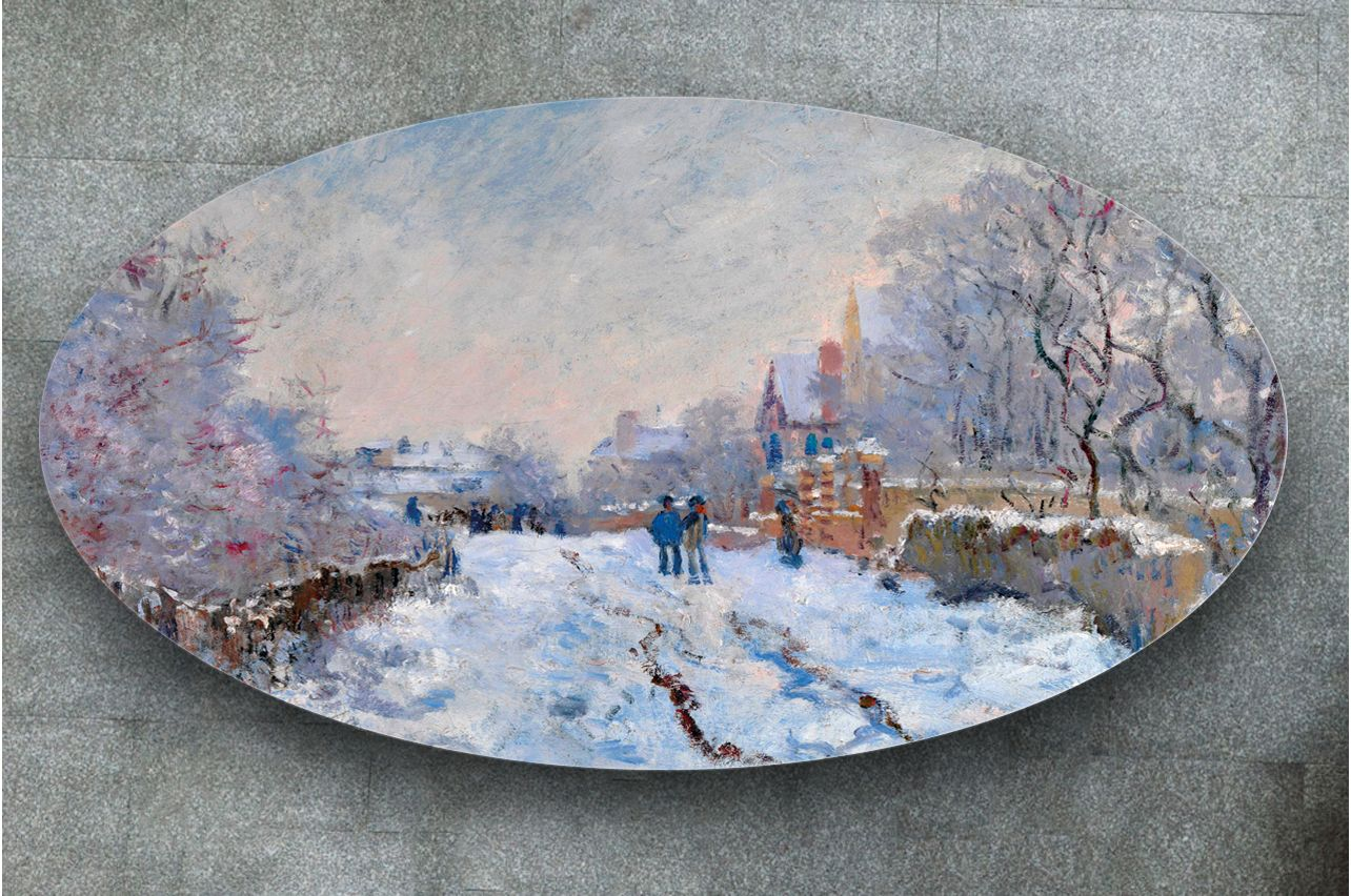 Table Decals - Snow in Argenteuil | Buy Table Decals in x-decor.com
