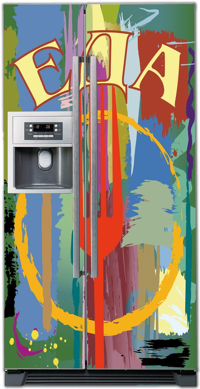 ниловая наклейка на холодильник -  Еда
