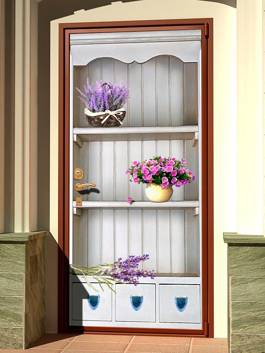 Наклейка на дверь - Прованс 3d, купить | Интерьерные наклейки