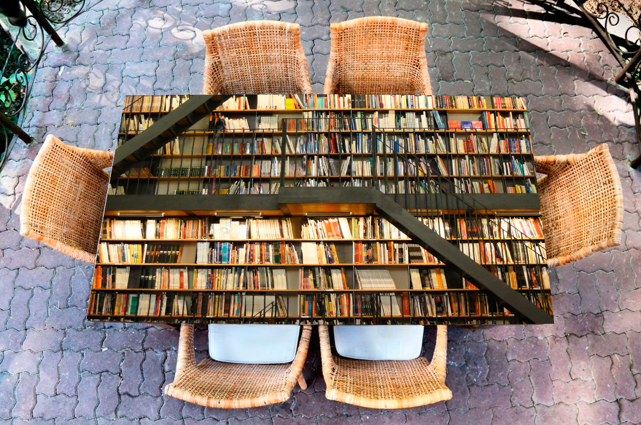 Наклейка на стол - Библиотека  | Купить фотопечать на стол в магазине Интерьерные наклейки