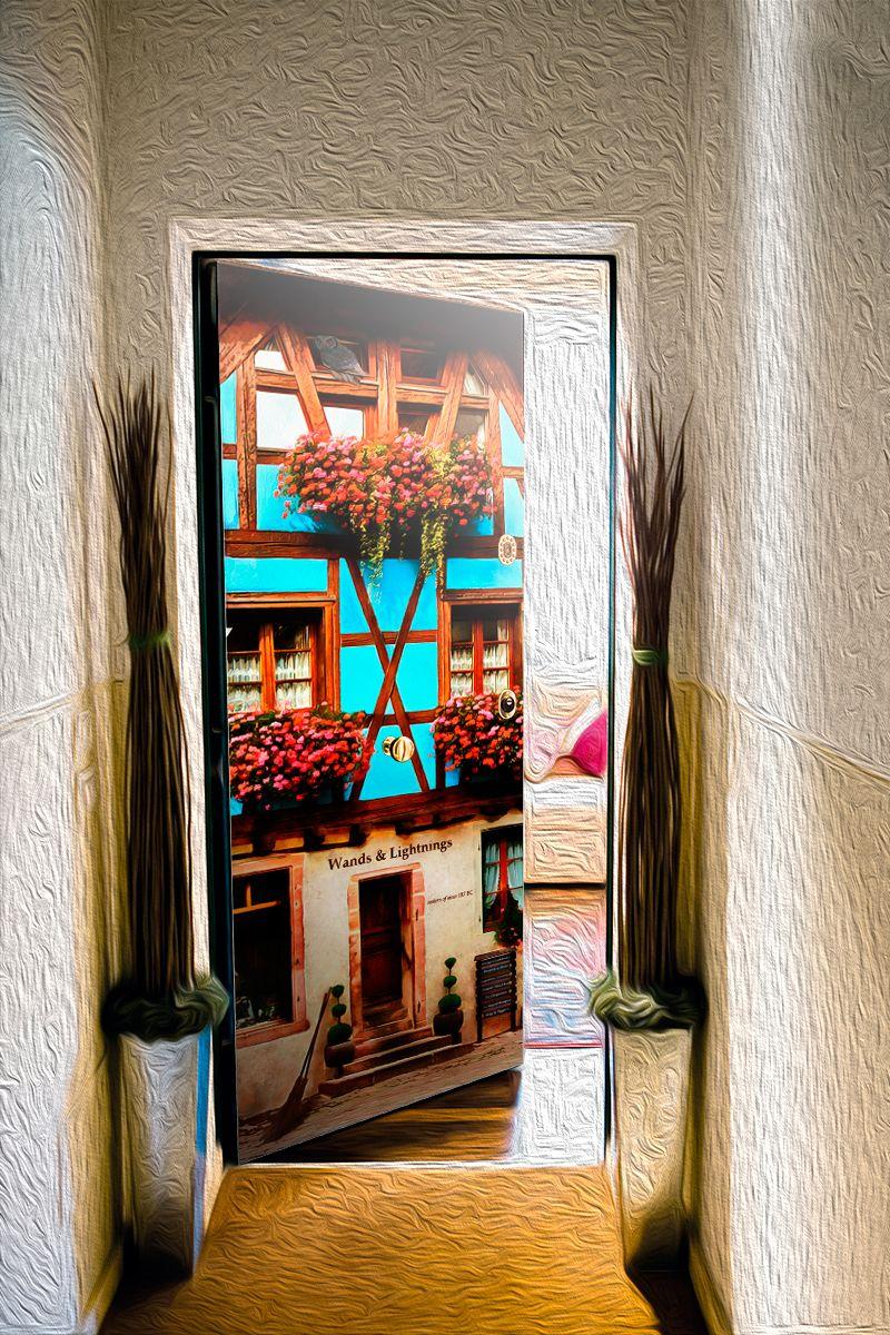 Наклейка на дверь - Диагон аллея, купить в магазине Интерьерные наклейки