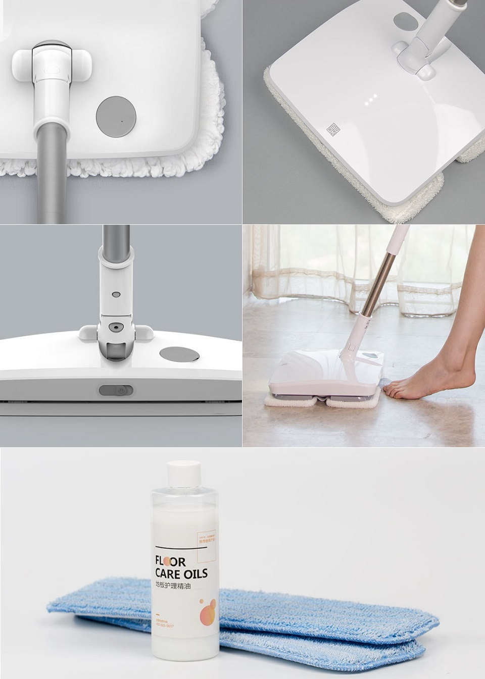 SWDK Полотер/Электрошвабра Handheld Electric Mop дизайн и индикация