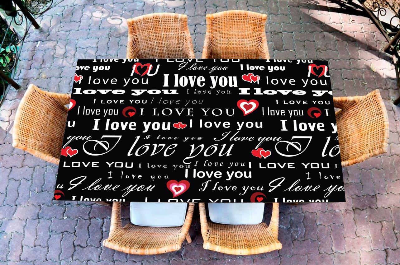 Наклейка на стол - I love 1 | Купить фотопечать на стол в магазине Интерьерные наклейки