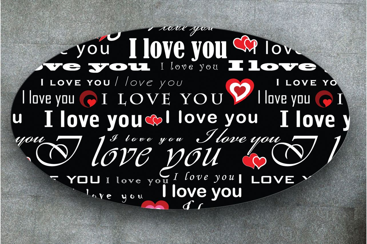 Table Decals - I love 1 | Buy Table Decals in x-decor.com