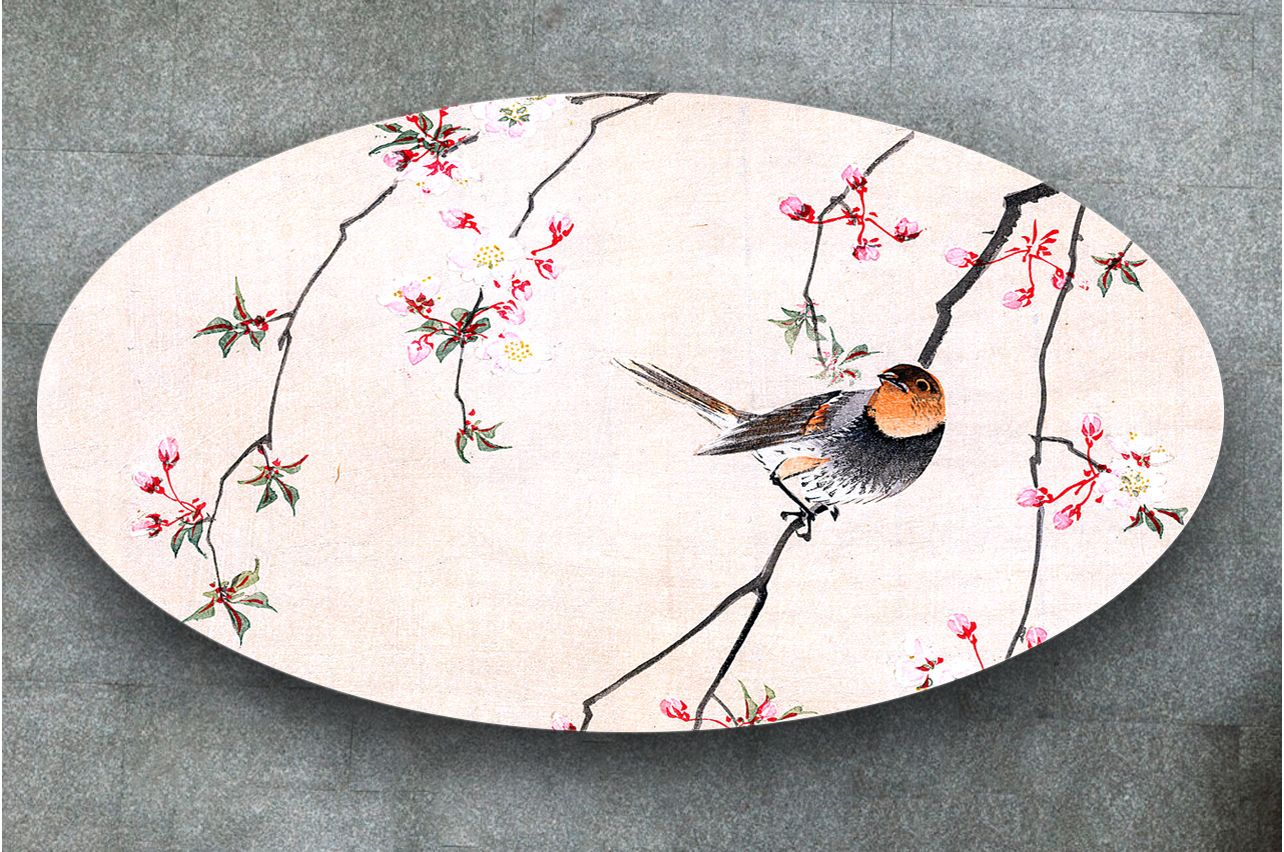 Table Decals - Bird and Cerry| Buy Table Decals in x-decor.com
