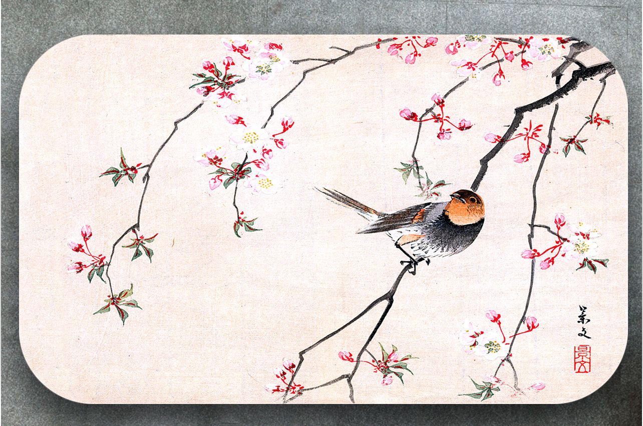 Table Decals - Bird and Cerry| Buy Table Decals in x-decor.comи