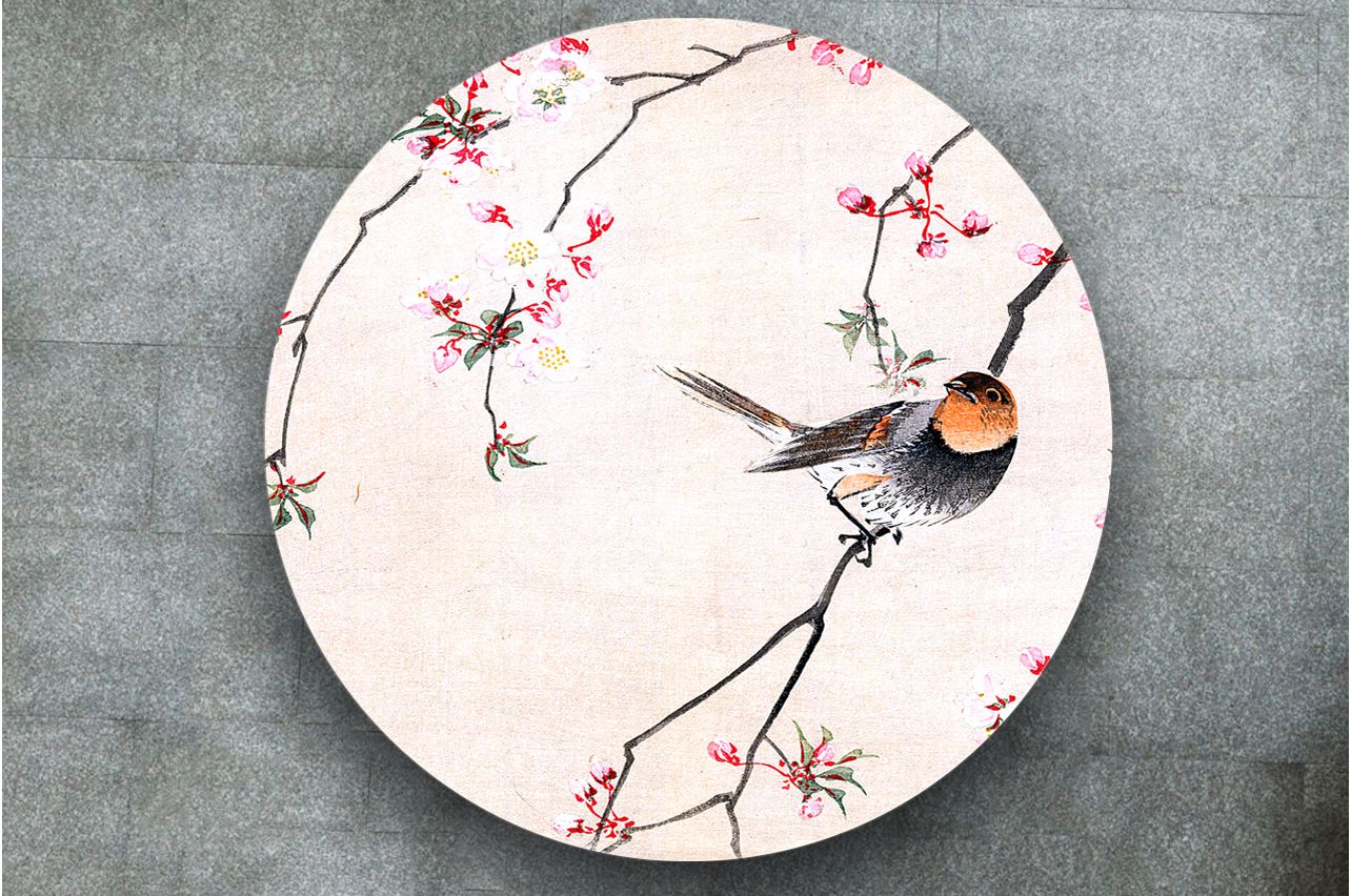 Table Decals - Bird and Cerry | Buy Table Decals in x-decor.com