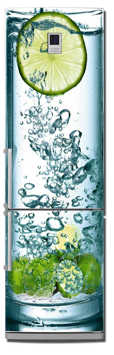 Виниловая наклейка на холодильник - Lime