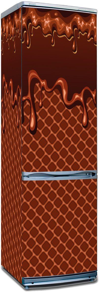 Виниловая наклейка на холодильник -  Мороженное