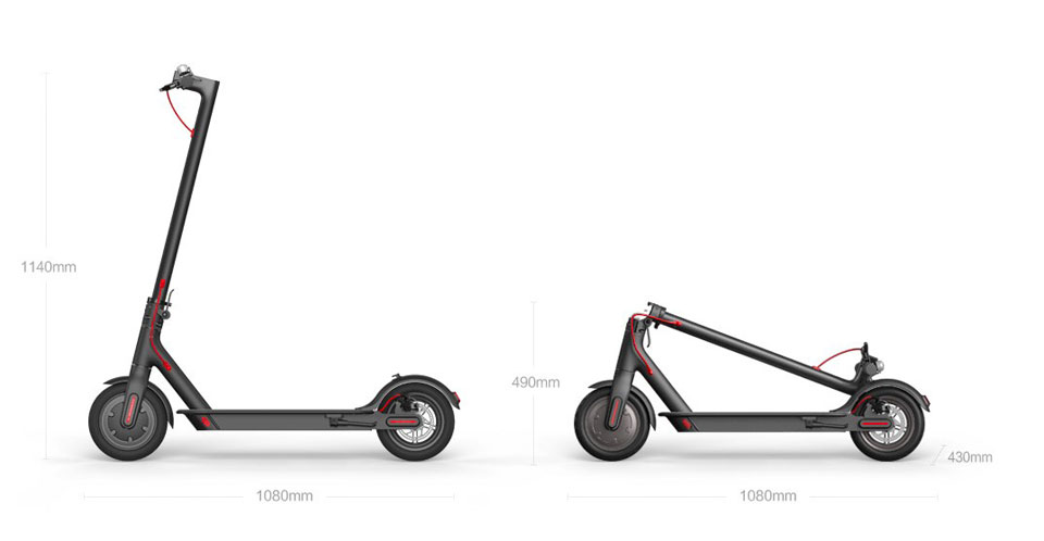 Mi Electric Scooter габариты