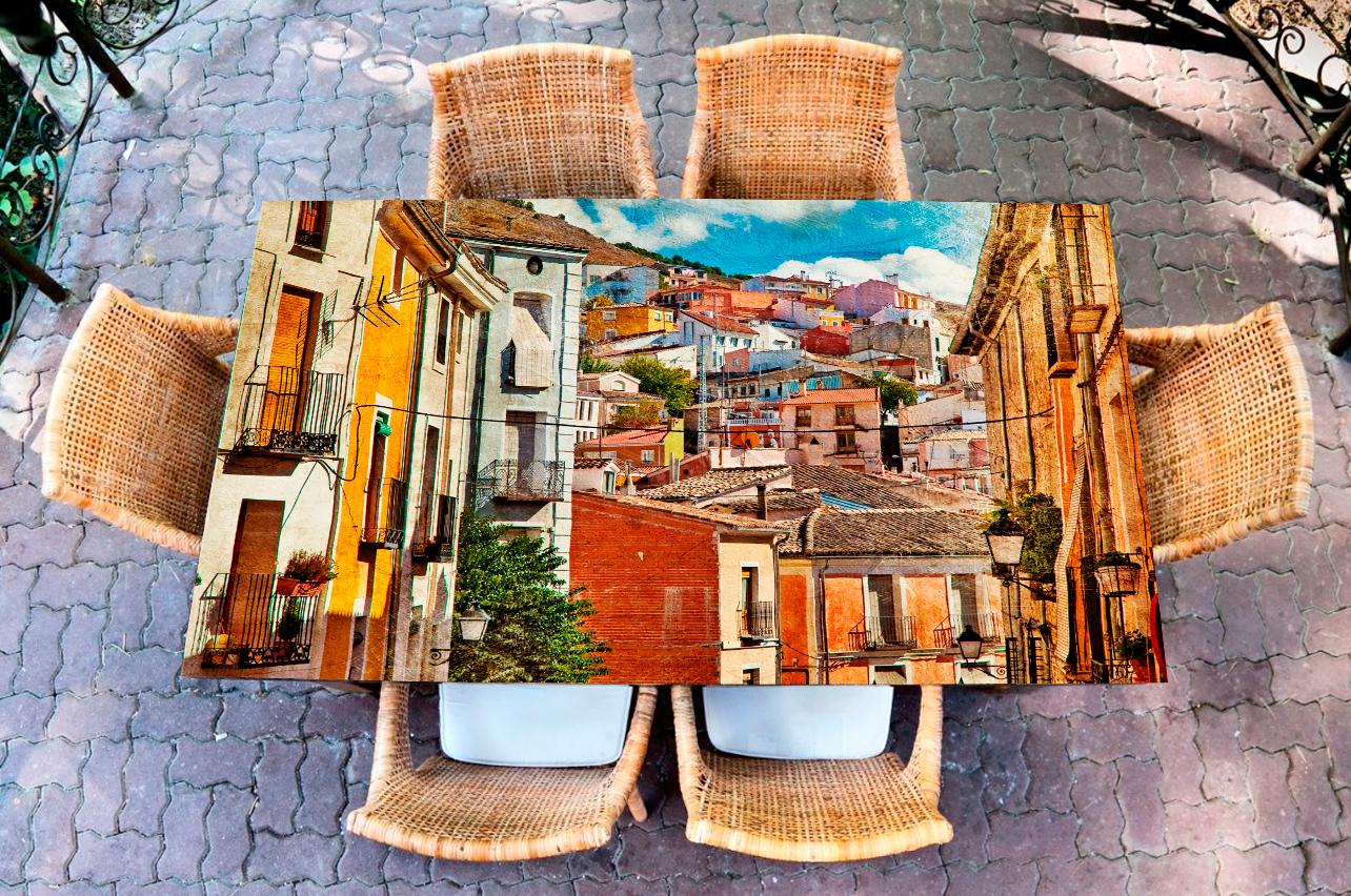 Наклейка на стол - Город у моря  | Купить фотопечать на стол в магазине Интерьерные наклейки